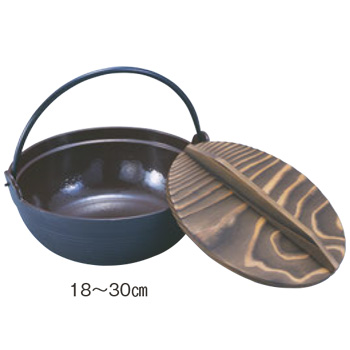 IK 鉄 電調専科 深型鍋(内面ホーロー仕上)30cm 段付【鍋】【IH対応】