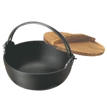 南部 鉄 ふる里鍋 深型 33cm 黒塗り【業務用】【鉄鍋】