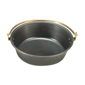 鉄 海石鍋 30cm 吊手(石無し)【代引き不可】【業務用】【なべ】【鉄鍋】