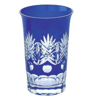 江戸切子 西陣・タンブラー ルリ 140-93-3【グラス】【カップ】【タンブラー】