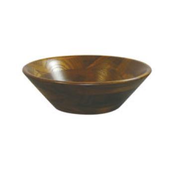 EBM-19-1429-01-003 低価格化 けやき 年間定番 サラダボール オイルカラー プレート φ300 木製 130002