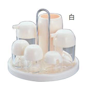 ■お得な10個セット■キノコ カスターセット 7PCS K-5108 白■お得な10個セット■【代引き不可】【調味料入れ】