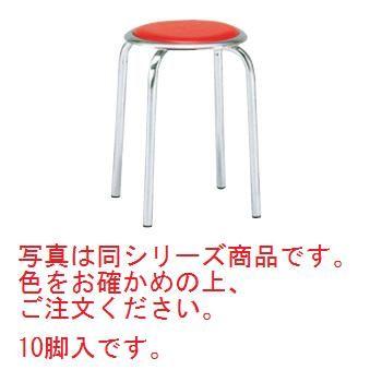 丸椅子 M-24M(10脚入)ブルー【代引き不可】【丸椅子】【パイプ椅子】【スチール椅子】【スタッキングチェア】【飲食店備品】【ホール備品】