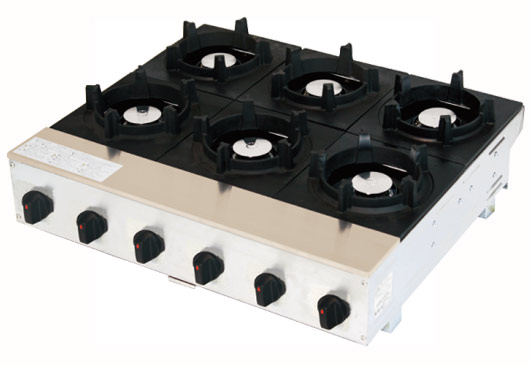 ピビンパガッツ6口 SPK-576T LP 山金 (立消安全装置付)【代引き不可】