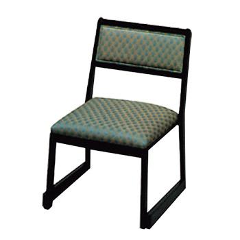 高脚座椅子(スタッキング式) 喜楽35N サペリ色【代引き不可】
