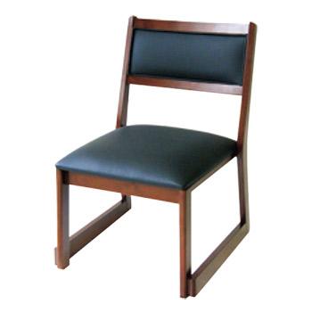 高脚座椅子(スタッキング式) 喜楽35B ブラウン【代引き不可】