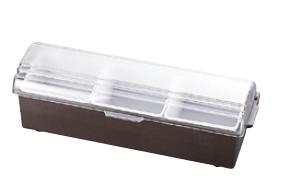 コンジメントディスペンサー 4742 3ヶ入 ブラウン TRAEX (ワイドタイプ)【収納】【ケース】【仕訳】【ストック】【ディスペンサー】【業務用厨房機器厨房用品専門店】