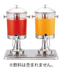 ジュースディスペンサー(2連) 6L 10402-2【代引き不可】【ドリンクバー】【バイキング】【ビュッフェ】【業務用厨房機器厨房用品専門店】
