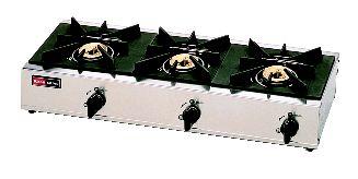 3口ガステーブル RSB-306SV (立消安全装置 付) (ガス種:都市ガス) 13A【代引き不可】【ガステーブル】【ガスコンロ】【卓上コンロ】【業務用】【業務用厨房機器厨房用品専門店】