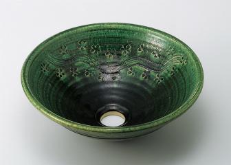 織部彫刻 31cm(中)金具付【代引き不可】