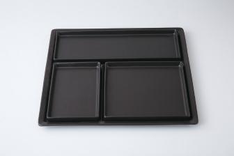 ミラノ黒マット 仕切盛皿