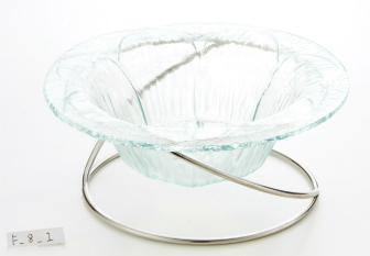 ガラス 花びら型盛鉢