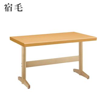 テーブル 宿毛シリーズ ナチュラルクリヤ サイズ:W1200mm×D750mm×H700mm 脚部:HTN【代引き不可】