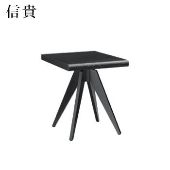 テーブル 信貴シリーズ ブラック サイズ:W600mm×D750mm×H700mm 脚部:HVX700B (1本脚)【代引き不可】