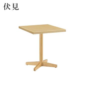 テーブル 伏見シリーズ ナチュラルクリヤ サイズ:W600mm×D750mm×H700mm 脚部:HTN (1本脚)【代引き不可】