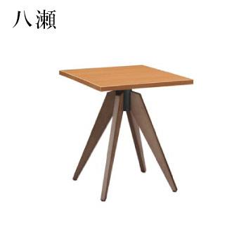 テーブル 八瀬シリーズ カームブラウン サイズ:W600mm×D750mm×H700mm 脚部:HVI500D (1本脚)【代引き不可】