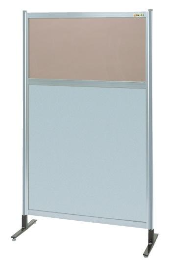 当店在庫してます! パーティション 透明カラー塩ビ(上) アルミ板(下)タイプ(単体) NAK-55NT【き】:厨房用品専門店!安吉-DIY・工具