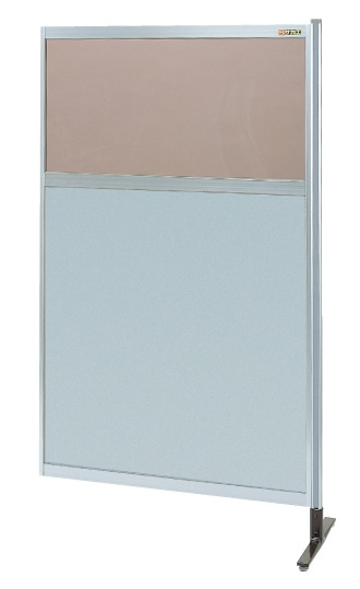 パーティション 透明カラー塩ビ(上) アルミ板(下)タイプ(連結) NAK-55NR【代引き不可】