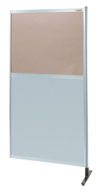 パーティション 透明カラー塩ビ(上) アルミ板(下)タイプ(連結) NAK-56NR【代引き不可】