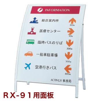 RXカーブサイン用オプション 面板 RX-91用
