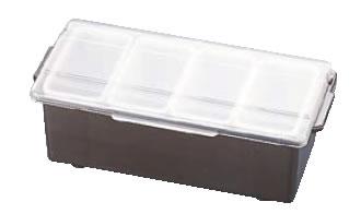 コンジメントディスペンサー レギュラー 4741 4ヶ入 ブラウン【薬味容器】【薬味入れ】【業務用保存容器】【TRAEX】【業務用厨房機器厨房用品専門店】