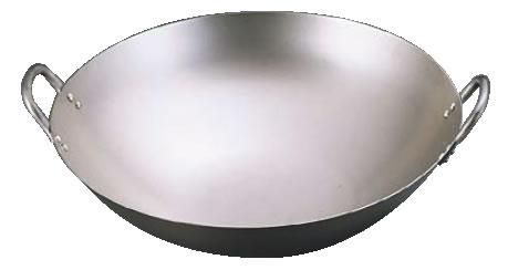 SA純チタン 中華鍋 42cm 【業務用鍋】【チタン】【Ω】【鼎】【丸底鍋】【業務用厨房機器厨房用品専門店】