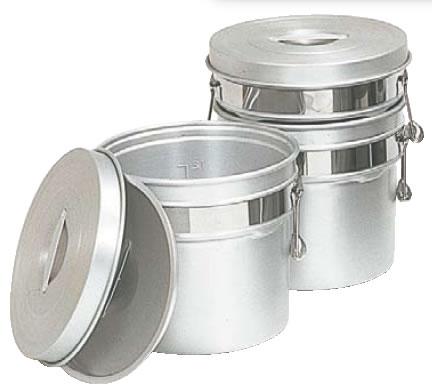 アルマイト段付二重食缶 250R (16l)【給食】【仕出し】【業務用厨房機器厨房用品専門店】