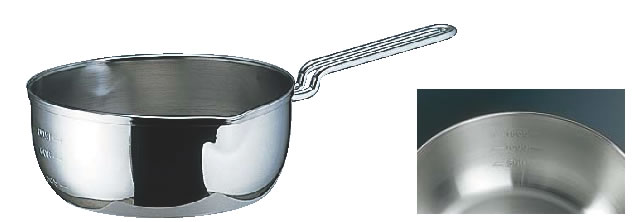SA18-10共柄三層鋼雪平鍋(目盛付) 22cm