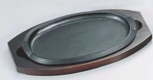 SAステーキ皿 小判型 大