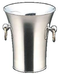 トリオ18-8二重パーティークーラー A型(目皿・トング付)【シャンパンクーラー】【ボトルクーラー】【ワインクーラー】【業務用厨房機器厨房用品専門店】