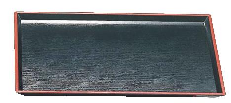厨房用品専門店 清流長手木目盆 ノンスリップ加工 黒天朱SL 15235350 尺2寸 業務用厨房機器厨房用品専門店 トレー ブランド買うならブランドオフ お盆 会席盆 トレイ 新入荷 流行