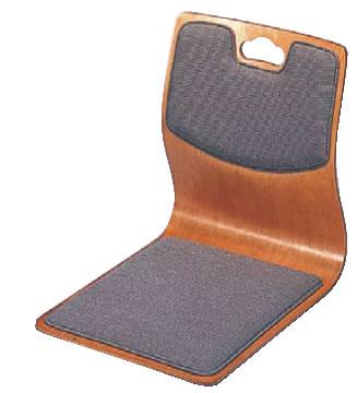 座いす 明星 ケヤキ色 背座布張 R-18-05【座椅子】【和式椅子】【宴会椅子】【業務用厨房機器厨房用品専門店】