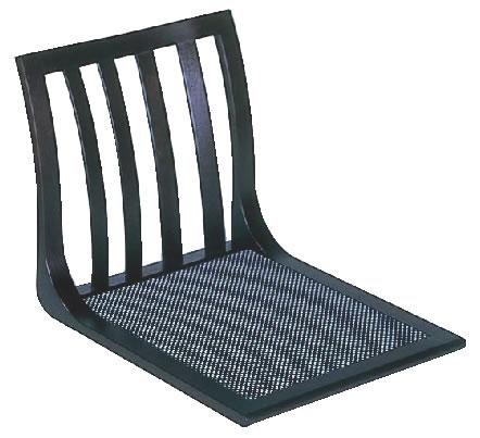 座いす 4本格子 サペリ色 座スベリ止め付 R-18-02【座椅子】【和式椅子】【宴会椅子】【業務用厨房機器厨房用品専門店】