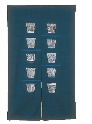 半間のれん 藍染 そばちょこ NID3045【のれん】【飲食店のれん】【暖簾】【業務用厨房機器厨房用品専門店】