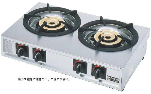 ガステーブルコンロ 親子 二口コンロ M-222C (ガス種:プロパン) LPガス【代引き不可】【焜炉】【熱炉】【業務用厨房機器厨房用品専門店】