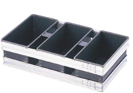 スルトン トライプラス 2斤食パン型 3連結 (蓋無) 【製パン用品】【業務用厨房機器厨房用品専門店】