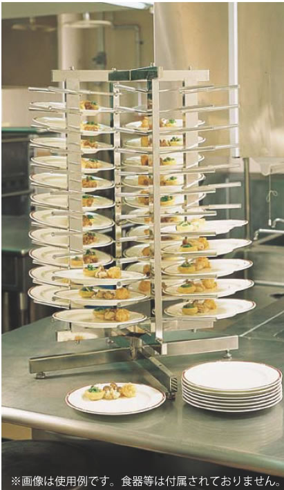 SA18-8回転式ディッシュ・スタック 48 【代引き不可】【カート ラック ワゴン】【スタッキング】【ワゴン 配膳車】【18-8ステンレス】【Ω】【ディッシュスタック】【業務用厨房機器厨房用品専門店】
