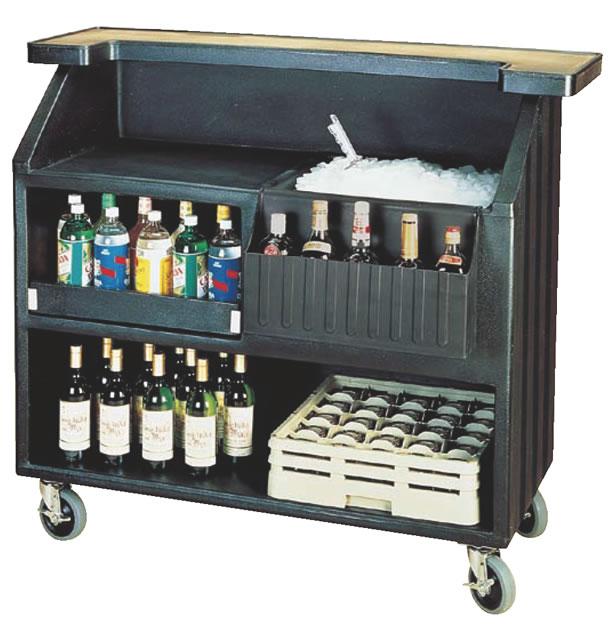 キャンブロ ポータブルバー BAR540 ブラック【代引き不可】【ワインカート】【シャンパンカート】【CAMBRO】【業務用厨房機器厨房用品専門店】