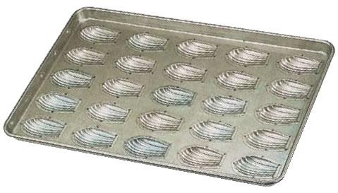シリコン加工 貝型マドレーヌ型天板 (25ヶ取)【シリコン型】【製菓用品】【業務用厨房機器厨房用品専門店】