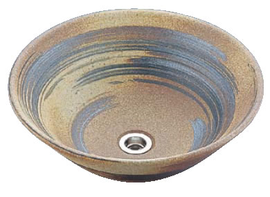 アーサーライン手洗鉢 T60-3 13号(信楽焼)【トイレ備品】【手洗い】【業務用厨房機器厨房用品専門店】