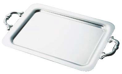 SW18-8プレーン角盆 20インチ (手付)【角盆  装飾台】【バイキング ビュッフェ】【バンケットウェア】【皿】【18-8ステンレス】【業務用厨房機器厨房用品専門店】