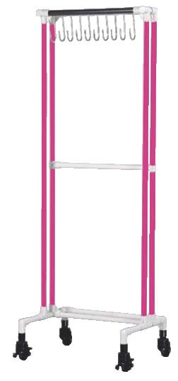 抗菌イレクター エプロンハンガー10名用 ピンク【代引き不可】【厨房エプロン】【食品工場】【飲食店用】【業務用厨房機器厨房用品専門店】