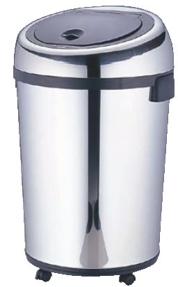 センサー付ダストボックス 丸型 DZT-80-1 80L【ごみ箱】【リサイクルボックス】【ダストボックス】【ペール】【ステンレス】【業務用厨房機器厨房用品専門店】