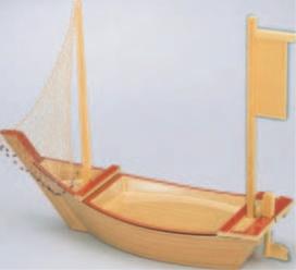 2尺3寸盛込舟 白木風【代引き不可】【船皿】【盛込船】【盛器】【料亭に】【懐石料理に】【1-709-3】