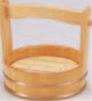 両手桶 (本体・スノ子付) 6寸【盛込器】【桶】【木製】【1-741-13】