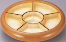 尺4寸S.D.X回転盛桶 花梨 仕切オレンジ吹付【オードブルに】【回転皿】【回転盛皿】【パーティーに】【新年会に】【回転台】【回転盛込器】【正月に】【M-12-74】