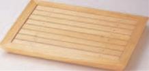 菱舟長角盛込器 (目皿付)【盛込器】【料亭に】【盛器】【木製】【白木】【M-13-39】
