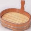 小判片手桶 (目皿付) 9寸【片手桶】【桶】【盛器】【盛桶】【盛込器】【M-13-42】