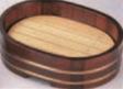 小判桶盛込器 茶木目 (目皿付) (小)【片手桶】【桶】【盛器】【盛桶】【盛込器】【M-13-43】