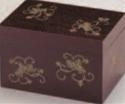 茶箱 柿合せ唐草【茶器】【茶道具】【茶道】【茶会席】【1-814-12】